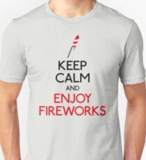 Keep calm and enjoy fireworks Unisex T-Shirt