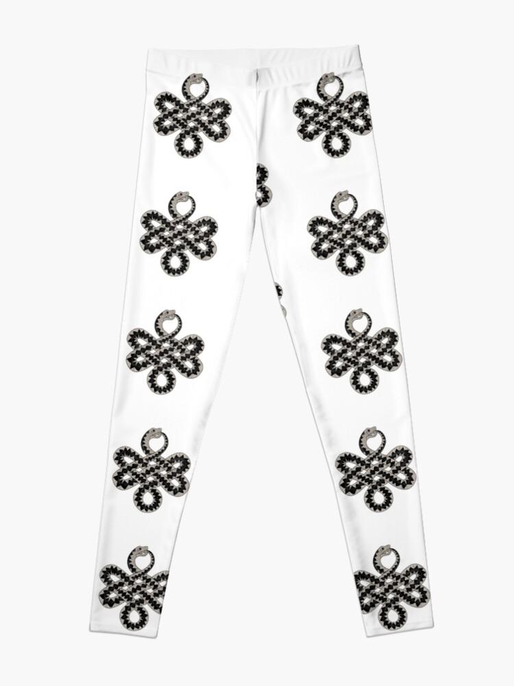 Alternate view of Celtic Knot Adder pattern Leggings