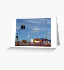 Container Port Auckland NZ Greeting Card