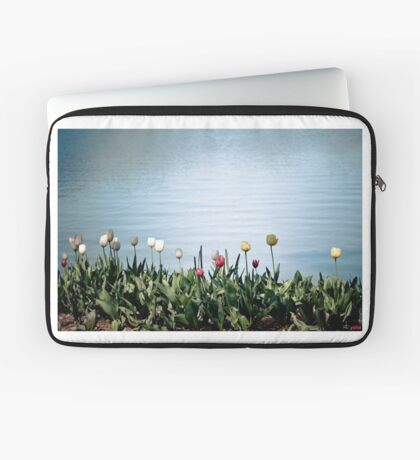 tulips by the water Laptop Sleeve