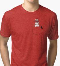 Pocket Boh and bird Tri-blend T-Shirt