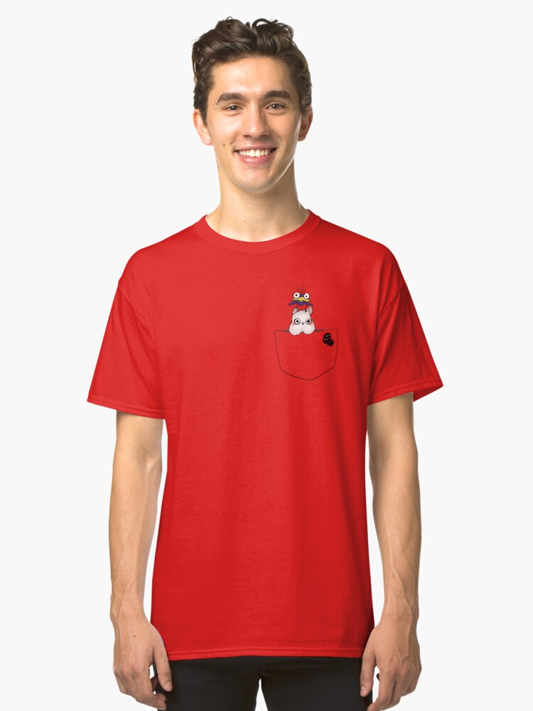 Pocket Boh and bird Classic T-Shirt Front
