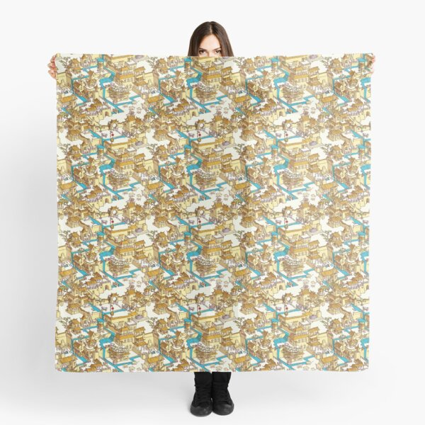Chinese Temple Labyrinth Scarf