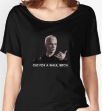 Spike, out for a walk - light font (TSHIRT) Women's Relaxed Fit T-Shirt
