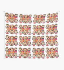 Mexican Dolls Wall Tapestry