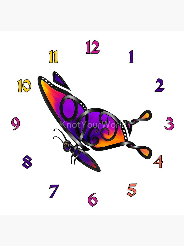 Celtic Knot Butterfly I-clock by KnotYourWorld