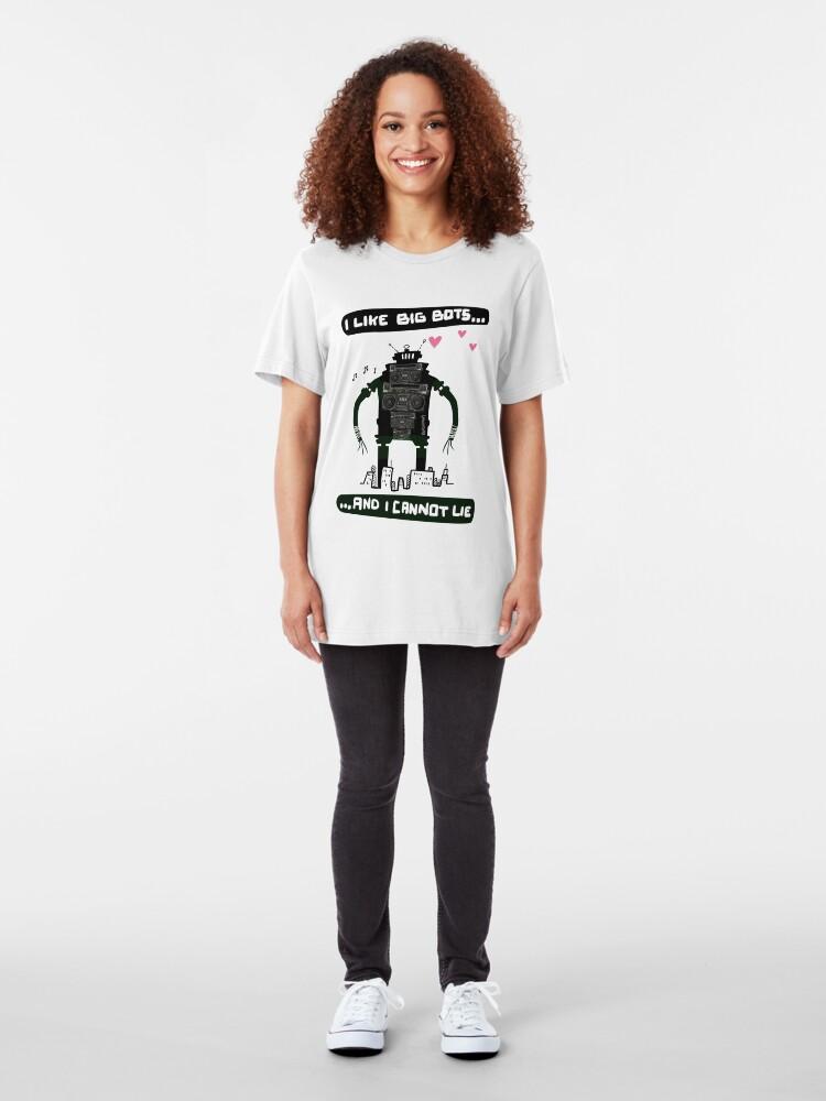 Alternate view of I Like Big Bots...  Slim Fit T-Shirt