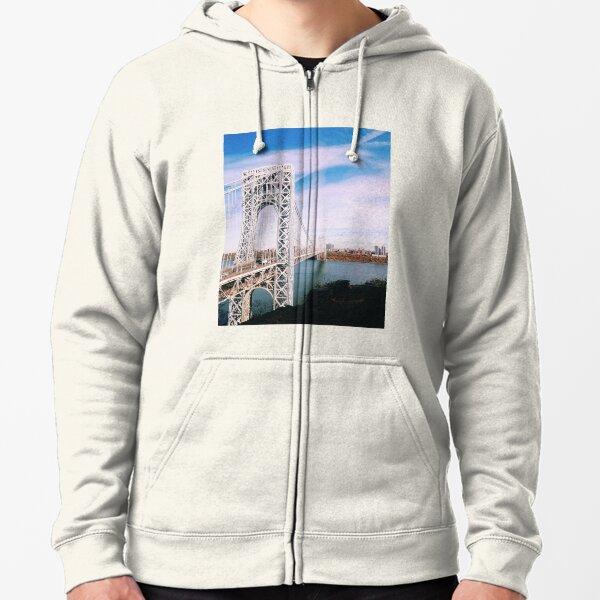 George Washington Bridge Zipped Hoodie