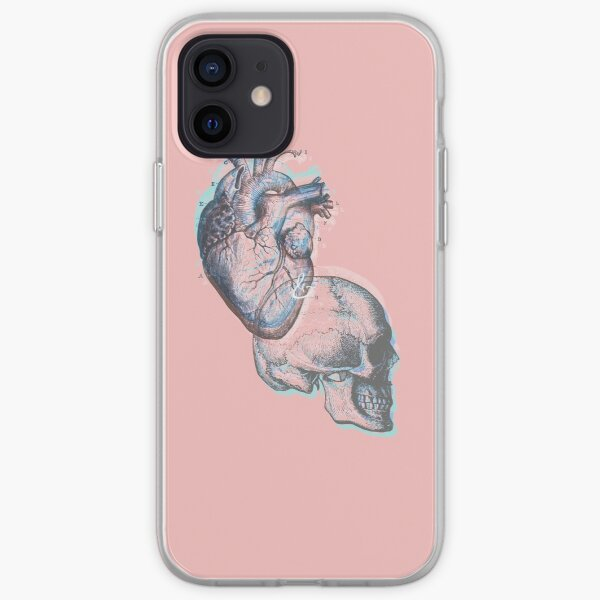 anatomy; heart and head iPhone Soft Case