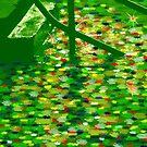 Green Stone Steps - Digital Painting by PhoenixArt