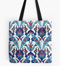 Turkish Iznik Floral Pattern Tote Bag