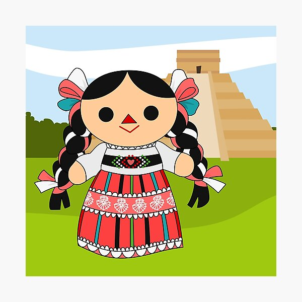 Maria 4 (Mexican Doll) Photographic Print
