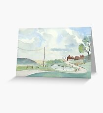 Norfolk Coast at Salthouse, by Nick Clark Greeting Card