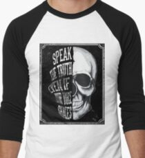 Skull Speak the truth Men's Baseball ¾ T-Shirt