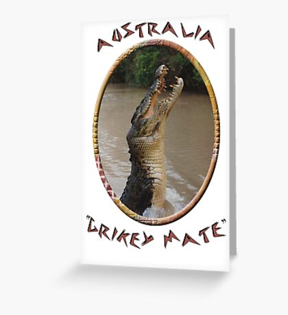 Jumping Croc Australia Greeting Card
