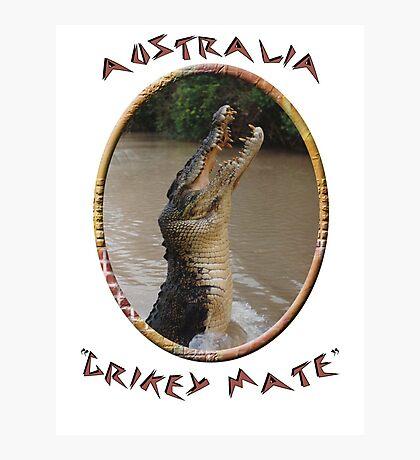 Jumping Croc Australia Photographic Print