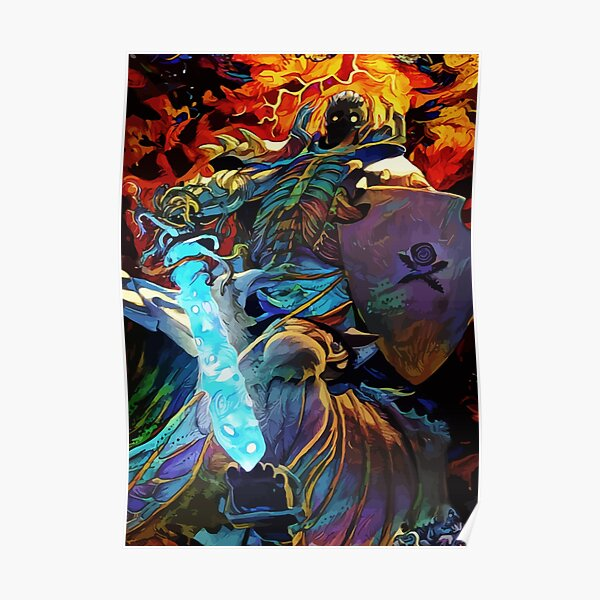 Colorful Skull Knight Poster