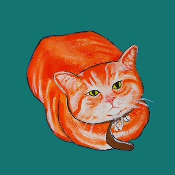 Yoshi the ginger cat by picklejarnz