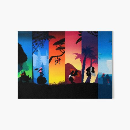 Hexaptych Silhouettes Art Board Print By Malmakes Redbubble