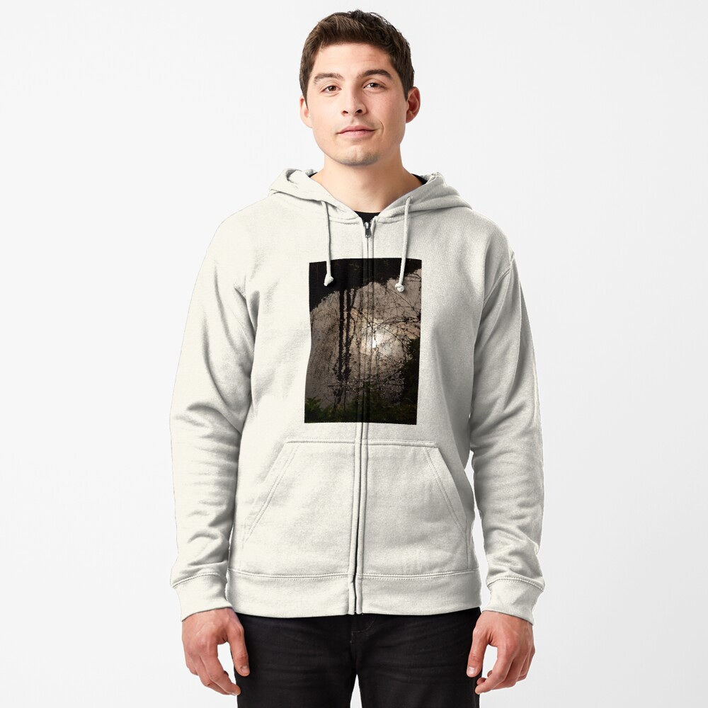 Patterns upon the water Zipped Hoodie