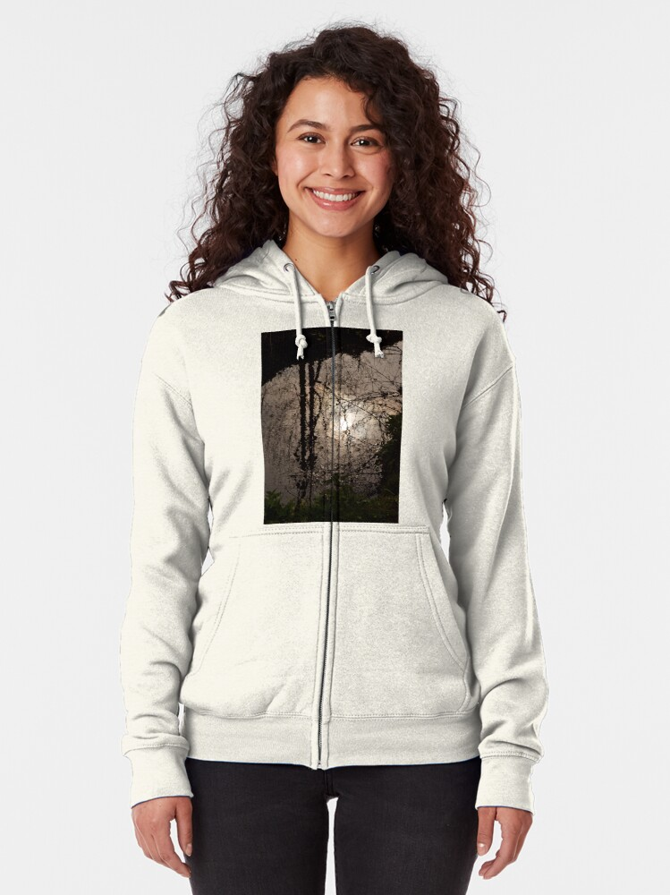 Alternate view of Patterns upon the water Zipped Hoodie