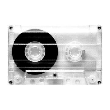 cassette  illustration - black and white tape  by ohaniki