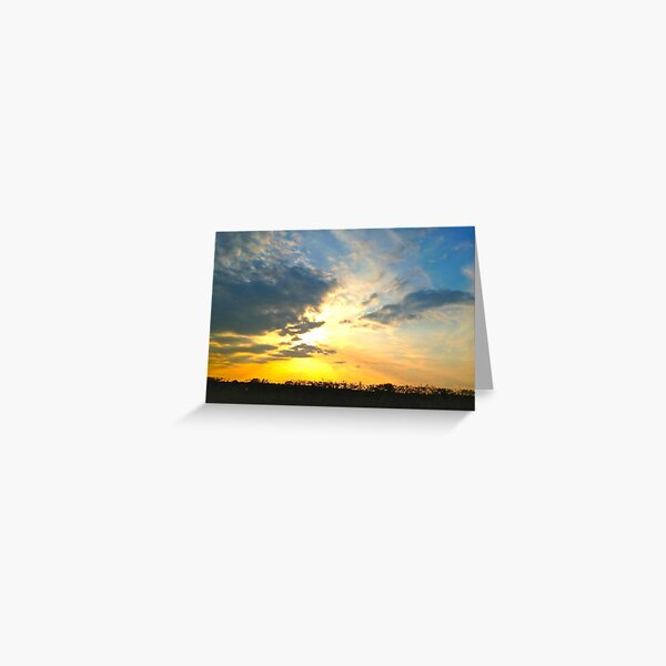 Sunset over Gosbecks Archaeological Park II Greeting Card
