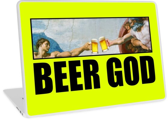Beer God Michelangelo Painting of Sistine Chapel  by Buniverse