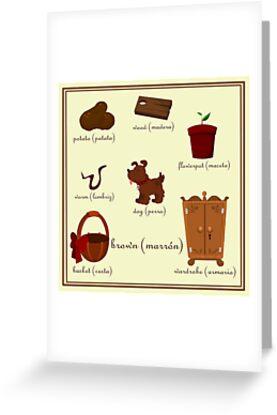 Colors: brown (Los colores: marrón) by alapapaju