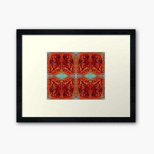 sumar - digital pattern of oil pastel abstract Framed Art Print