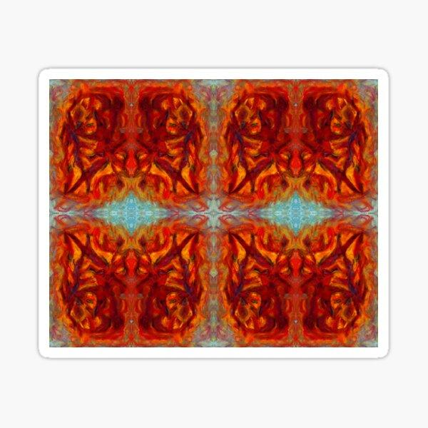 sumar - digital pattern of oil pastel abstract Sticker