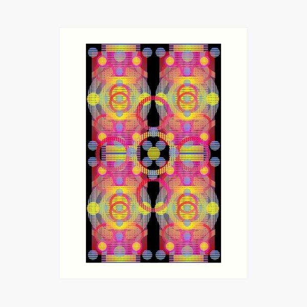 Colored patterns Art Print