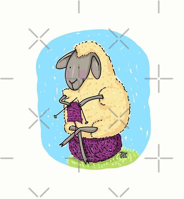 Knitting Sheep by TsipiLevin