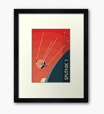 Sputnik 1 Gerahmtes Wandbild