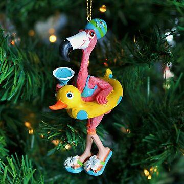 Flamingo Swimmer by Michiale