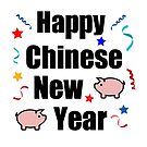 Happy Chinese New Year Pig Streamers Color by TinyStarAmerica