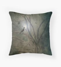 A Night in the Forest Throw Pillow