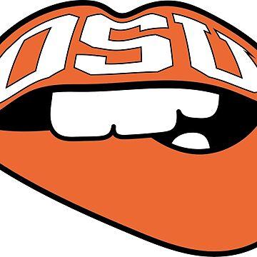 Oklahoma Varsity Lips by emmybdesigns