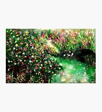 THE MAGICAL GARDEN** ITS A WONDERFUL WORLD ..LOUIE ARMSTRONG Photographic Print