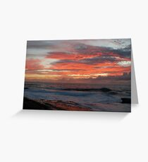 Sunrise Over Sea Greeting Card