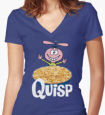Quisp Women's Fitted V-Neck T-Shirt