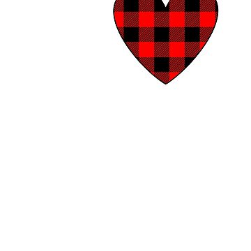Valentines Day Buffalo Plaid Heart Love by CheerfulDesigns