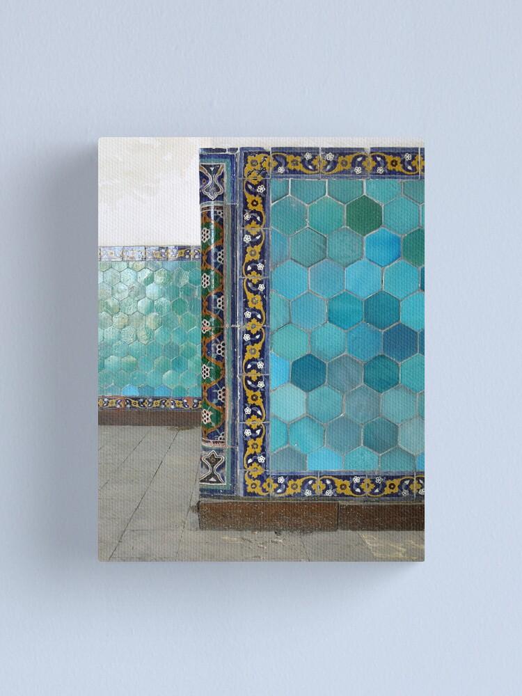 Alternate view of Bukhara Blue (1) Canvas Print