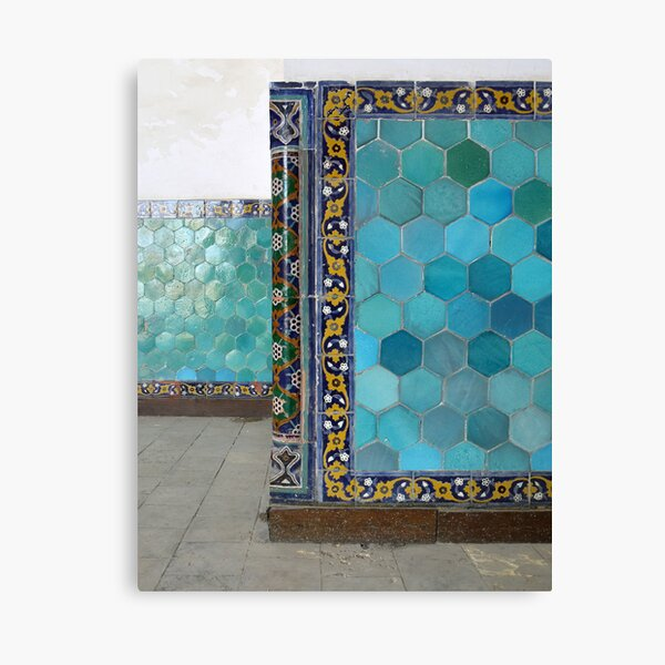 Bukhara Blue (1) Canvas Print