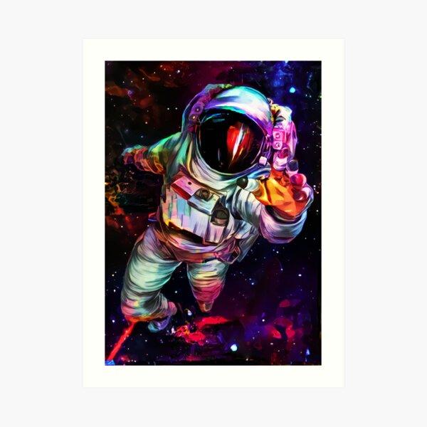 Astronauta de color profundo Lámina artística