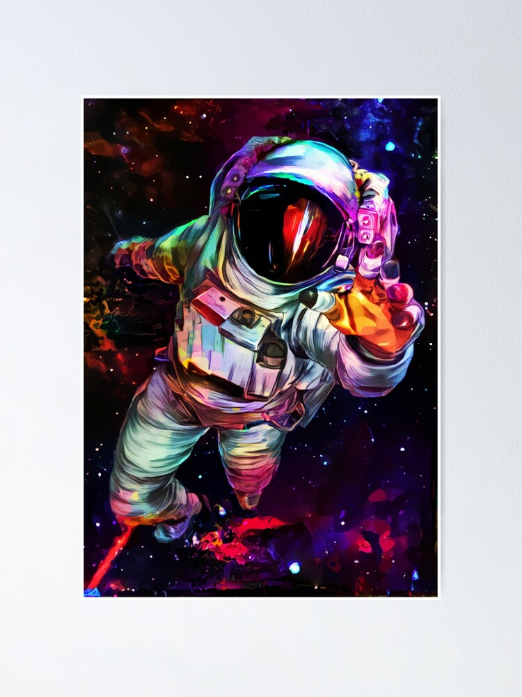 Alternate view of Deep Colour Astronaut Poster