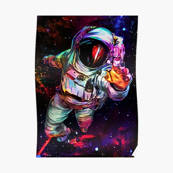 Deep Colour Astronaut Poster