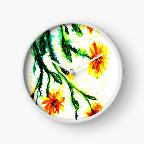 A Splash of Sunshine - Flowers Clock