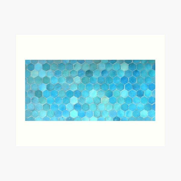 Bukhara Blue (2) Art Print