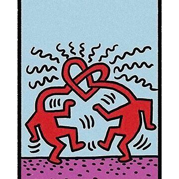 La carta de los amantes del tarot - Keith Haring de electricgal